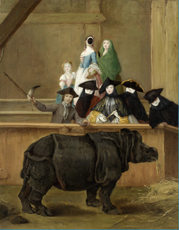Exhibition of a Rhinoceros, by Pietro Longhi