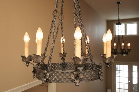 Find an antique chandelier or make your own goldenfingers for Build your own chandelier