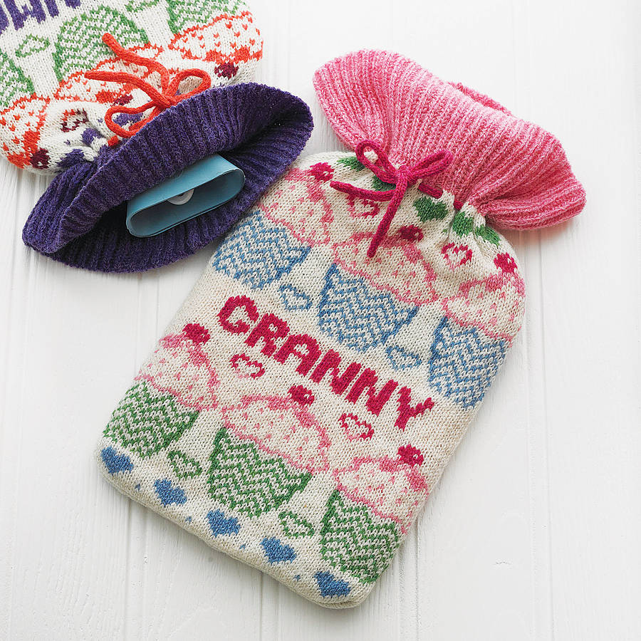 Free Knitting Pattern For Small Hot Water Bottle Cover : The Golden Fingers: Hot Water Bottle Cover