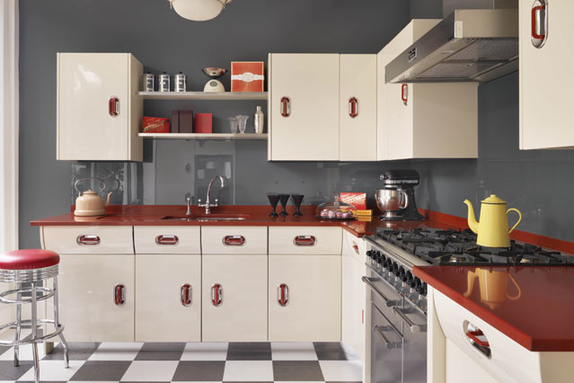 The 50 s style in interior design goldenfingers for 50s kitchen ideas