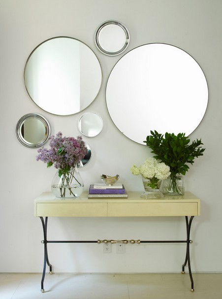 Hanging mirrors on the wall