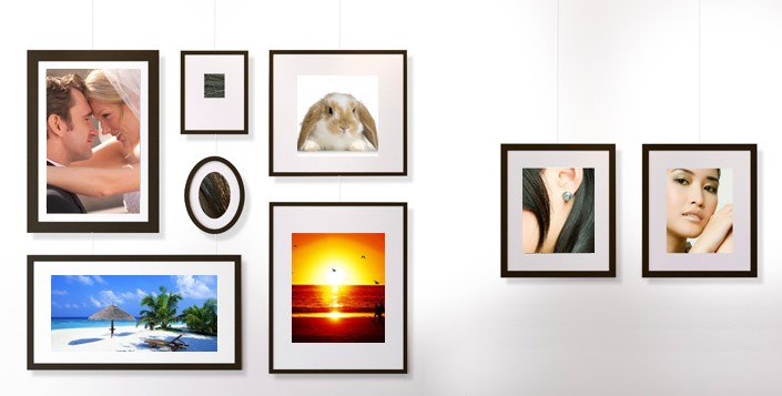 eample of hanging the pictures