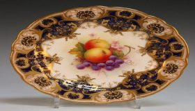 The Royal Worcester Fruit  Painted Porcelain