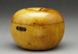 Fruit-shaped Wooden Tea Caddy
