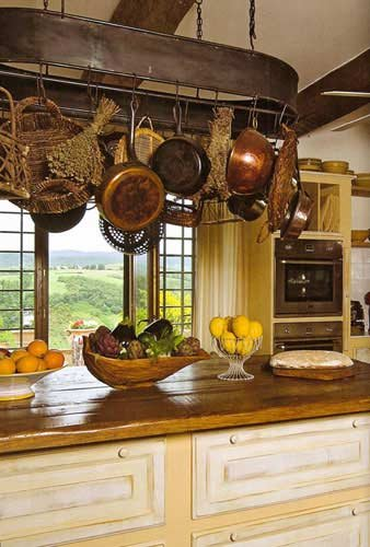 kitchen design hanging pots and pans the tuscan style kitchen design goldenfingers 701
