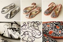 Lovely Hand Illustrated Shoes by Francisco Miranda