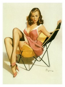 0000-8507-4~Pin-Up-Girl-Beach-Chair-Posters