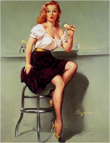 Cold Feed Cold Front Artist Gil Elvgren Vintage Classic Pin Up Girl Poster Print 1 Large