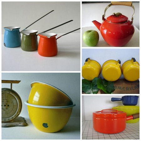 Enamelware collage