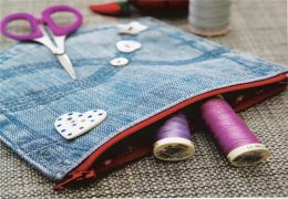 Make a Denim Pocket Purse From an Old Jeans