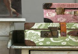 Textile covered baggage