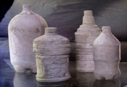 A modern home decoration: Concrete Water Bottles