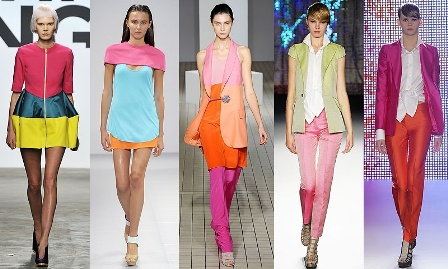pastel and solid colours