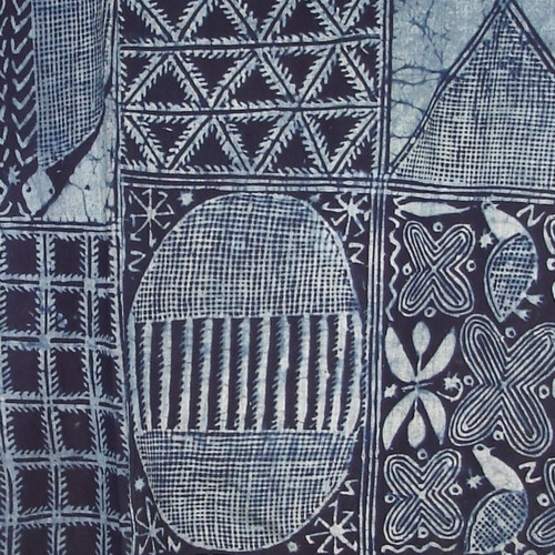 Nigerian indigo dyed cloth
