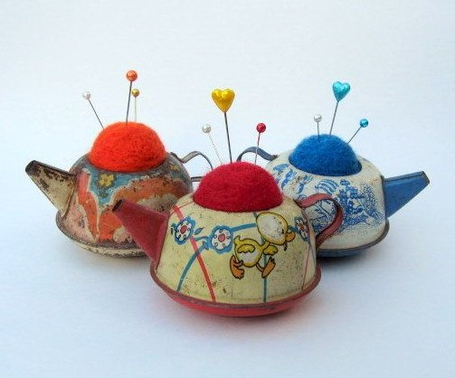 teapot pin cushion