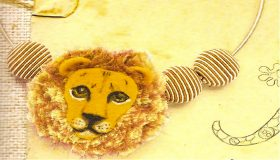 Lion choker necklace