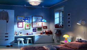Lighting in child's bedroom