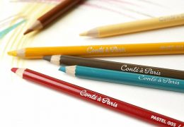 Conté crayons and pencils