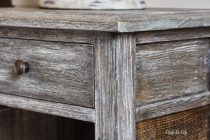 Limed wood furniture